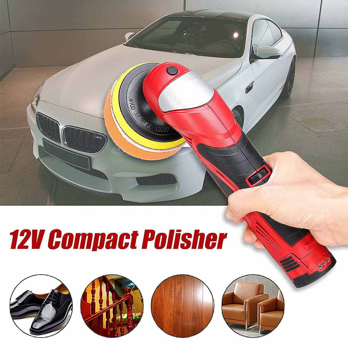 Car Polisher 12V 5-Level Variable Speed 3000rpm Car Paint Care Tool Polishing Machine Sander Electric Floor Polisher Compact PolCar Polisher 12V 5-Level Variable Speed 3000rpm Car Paint Care Tool Polishing Machine Sander Electric Floor Polisher Compact Pol