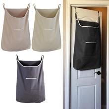 Creative Space Saving Door Back Hanging Laundry Hamper Office Home Bag with Free Hooks Dirty Clothes Storage Pouch