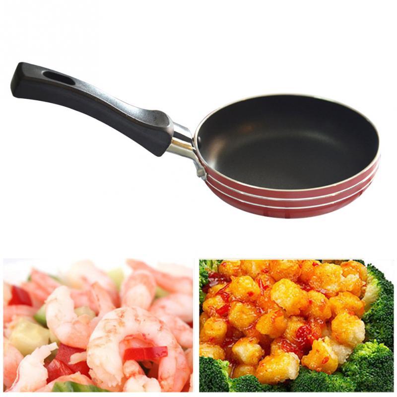 Non-stick Frying Mini Practical Kitchen Supplies Pan Aluminum With Handle 12cm Diameter