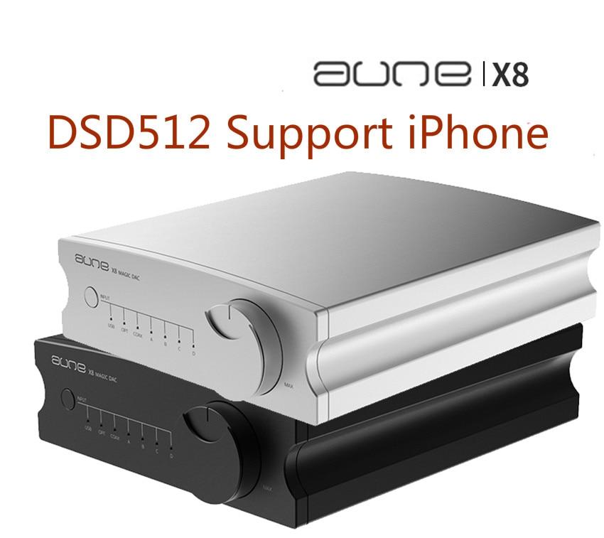 AUNE X8 HIFI DAC décodeur Audio ES9038Q2M USB DAC ampli DSD512 Coaxial optique PCM32bit 768kHz ES9038 pré-amplificateur