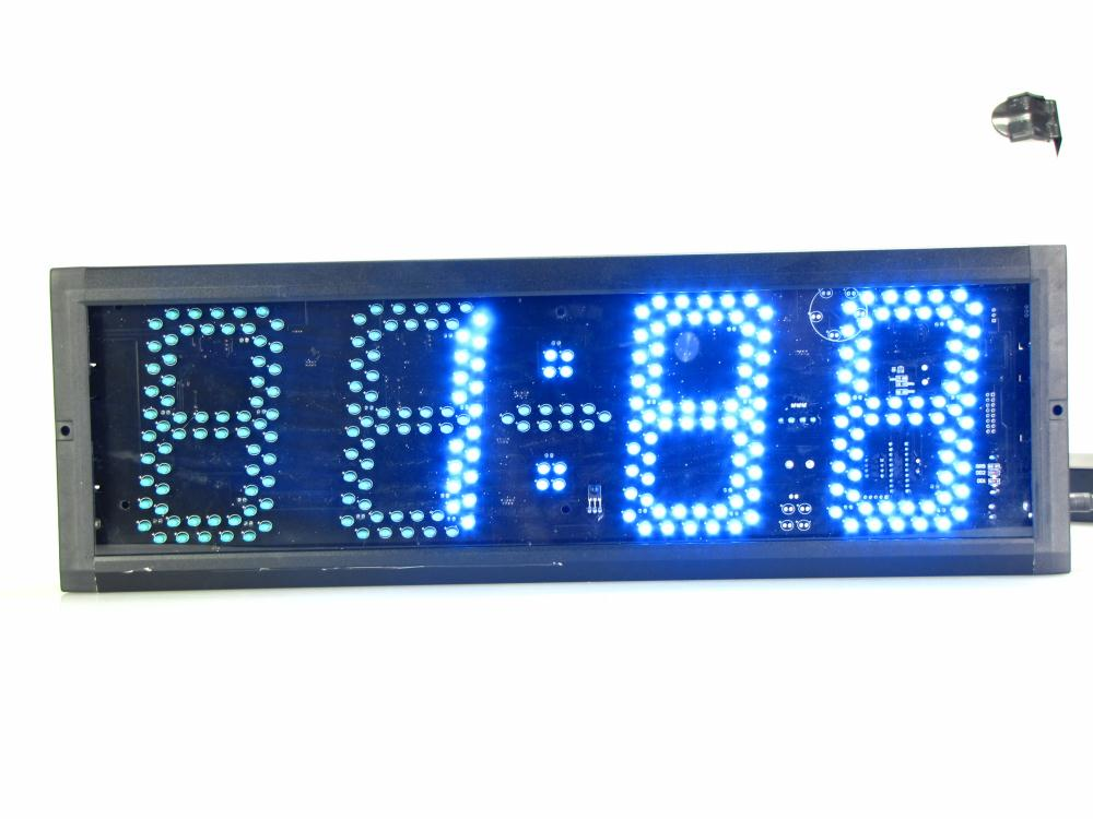 Супер большие цифровые настенные часы светодиодный будильник таймер обратного отсчета пульт дистанционного управления большой номер свет... - 3