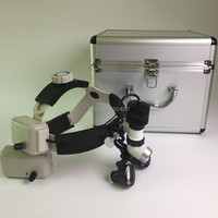 3.5X Medical Loupes Binocular Magnifier Medical Dental Surgical Loupes+5W LED Medical Headlight Headlamp 2 Battery Aluminum Box