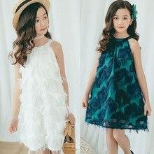 2ae20e035 المراهقات فستان صيفي حجم 10 12 14 الأبيض حزب الزفاف ليتل بنات فساتين  الأميرة ملابس أطفال