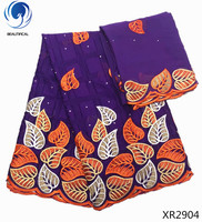 BEAUTIFICAL african cotton lace blue swiss lace fabric cotton lace african fabric XR29
