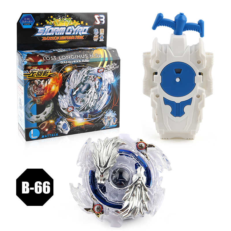 Burst Starter Speed 4D LOST LONGINUS.N.Sp B-66 Combat Spinning Top With Launcher Play Set for Kids BoyBurst Starter Speed 4D LOS