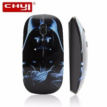 CHYI Wireless Mouse Star Wars USB Optical Mouse Portable Cordless Darth Vader Computer Gaming Mice For Laptop Notebook PC Mause цена и фото