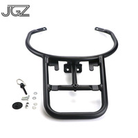 Black Motorcycle CNC Aluminum Detachable Rear Luggage Rack Bracket Cargo Support Holder for VESPA GTS 300 Accessories Modified