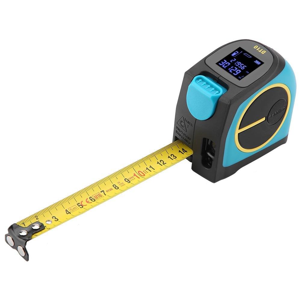 DT10 2 in 1 USB Charging Laser Rangefinder Tape Measure 5m LCD HD Digital Laser Range