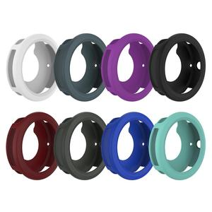 Image 1 - Silicone Protector Case Smart Watch High Quality Cover Shell 8 Colors For Garmin Vivoactive 3 Smart Watch Diameter 45.4MM
