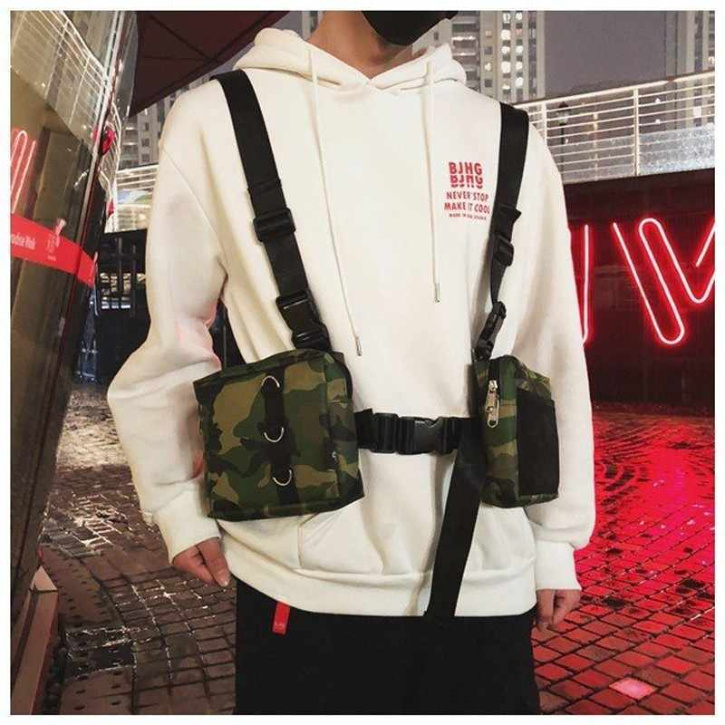 Fashion Dada Rig untuk Pria Tas Pinggang In Streetwear Fungsional Walkia Taktis Hip Hop Tas Bahu Tas Selempang Pria Kanvas tas