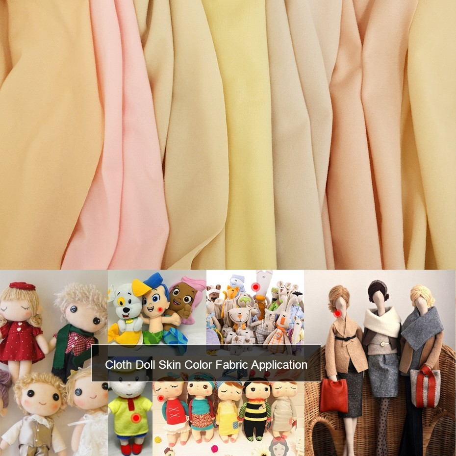 2019 Newest High Density 50*145cm /90*145cm Flesh Color Diy Doll Skin Textile Fabric Fiber Sewing Patchwork Handmade Fabric