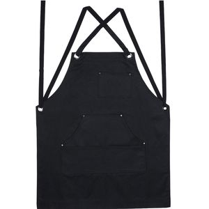 Image 3 - Promotion! Black Canvas Work Apron with Tool Pockets Cross Back Straps & Adjustable Apron Heavy Duty Apron With Pockets