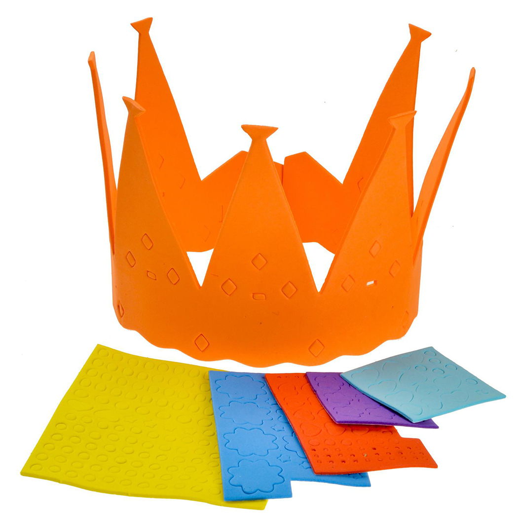 8 Set DIY Craft Kit Creative Crown Handmade Ornament Kit Craft Supplies For Kids
