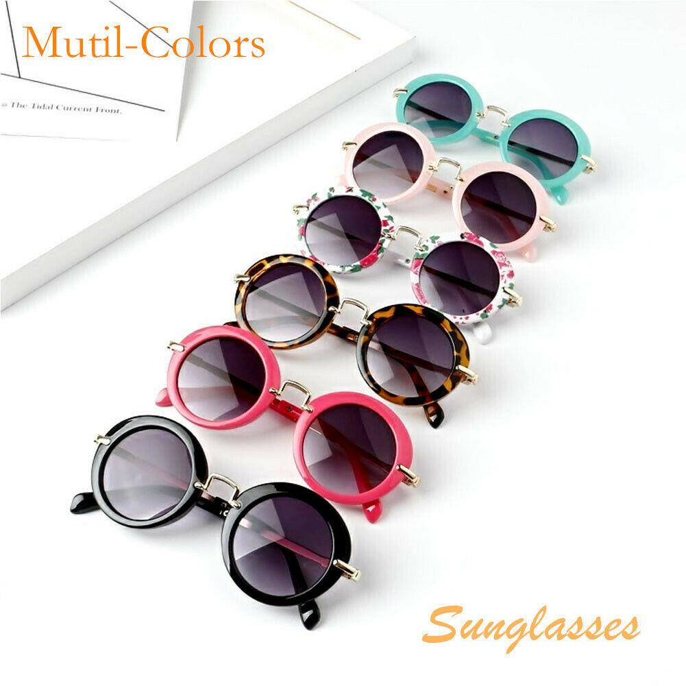 2019 Kids ANTI-UV Glasses Candy Colors Boys Girls Children Round Sunglasses Eyewear /
