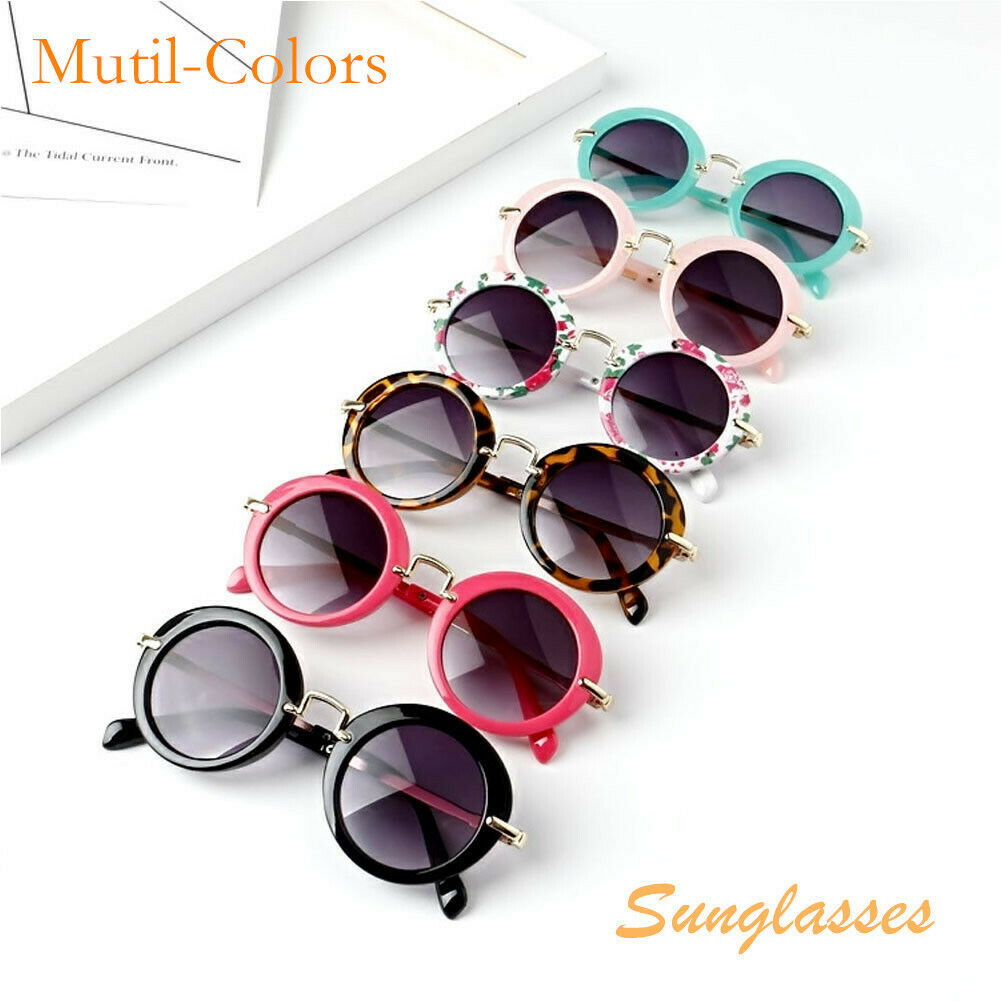 Girls Baby Retro Kids Sunglasses New Fashion Anti-UV Boys Children Glasses UK