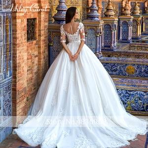Image 2 - Ashley carol laço princesa vestido de casamento 2020 vestido de baile elegante miçangas apliques nupcial do vintage vestidos de noiva