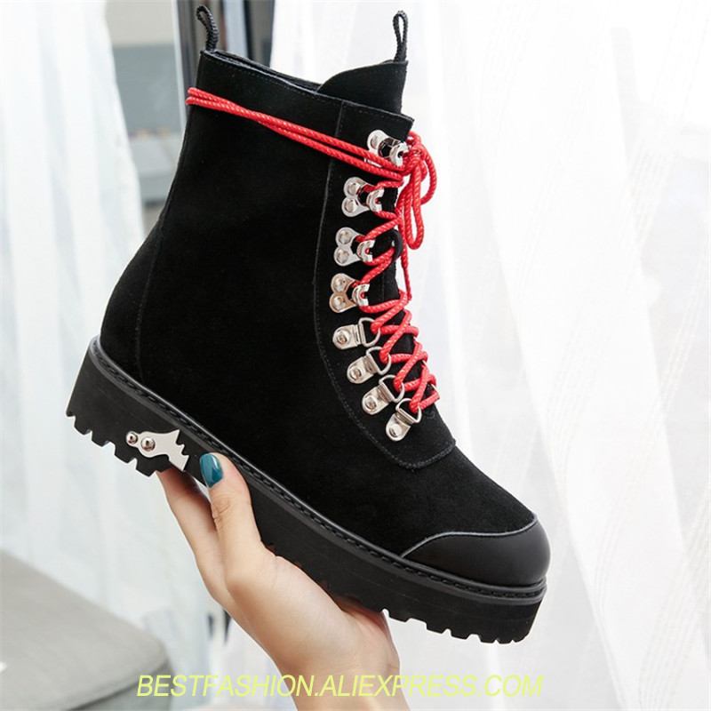 Fashion Punk Gothic Style Cowboy Women Martin Lace up Round Toe Boots Women Shoes Short Boots Street haulage motor mujer zapatosFashion Punk Gothic Style Cowboy Women Martin Lace up Round Toe Boots Women Shoes Short Boots Street haulage motor mujer zapatos