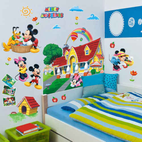 Pop 3D Mickey Mouse Clubhouse pegatinas de pared niños dormitorio decoración pegatina Mural