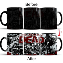 The Walking Dead Coffee Mug Tea Cup Color Change Mugs Discoloration Cup Ceramic Coffee Mug Magical Cup Gift baldr earth mark cup tetris the heat change thermal color mugs