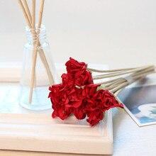 10 шт. красная роза ароматерапия Цветок искусственный цветочный аромадиффузор с тростниковыми палочками палочки DIY украшение для дома ручной работы Прямая