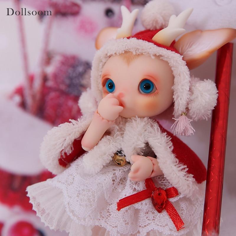 BJD ตุ๊กตา Rudy 1/8 Christmas Deer รวม Fullset ตัวเลือกสัตว์เลี้ยงน่ารักตุ๊กตา Oueneifs luodoll-ใน ตุ๊กตา จาก ของเล่นและงานอดิเรก บน   3