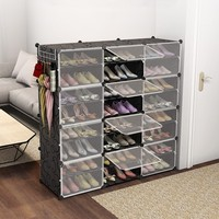New Recommended Plastic Free Combination Shoe Rack Steel Frame Shoebox Sneakers Cabinet Organizational Storage