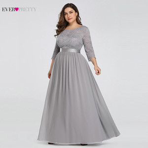 Image 5 - Wedding Party Dress Plus Size Ever Pretty Elegant A Line O Neck Three Quarter Sleeve Long Lace Mother Of The Bride Dresses 2020