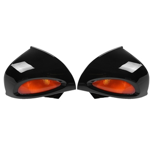 1 Pair Rearview Glass Side Mount Mirrors with Signal Lens for BMW R1100RT R1150RT R850RT Blind Spot Mirror Wide RearView Mirror(China)