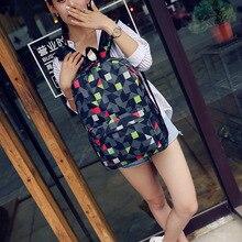Fashion Women Backpack Student Water Repellen Nylon Bag Men