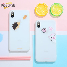 KISSCASE Cute Animal Case For iPhone X XS Max XR Soft TPU Silicon Girly Case For iPhone 6 6S 7 8 Plus 5 5S SE Back Cover Funda цена и фото