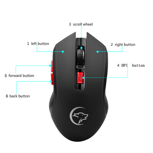 Image 5 - G817 Universal Adjustable 2400DPI PC Battery Powered 2.4G Wireless Gaming Mouse