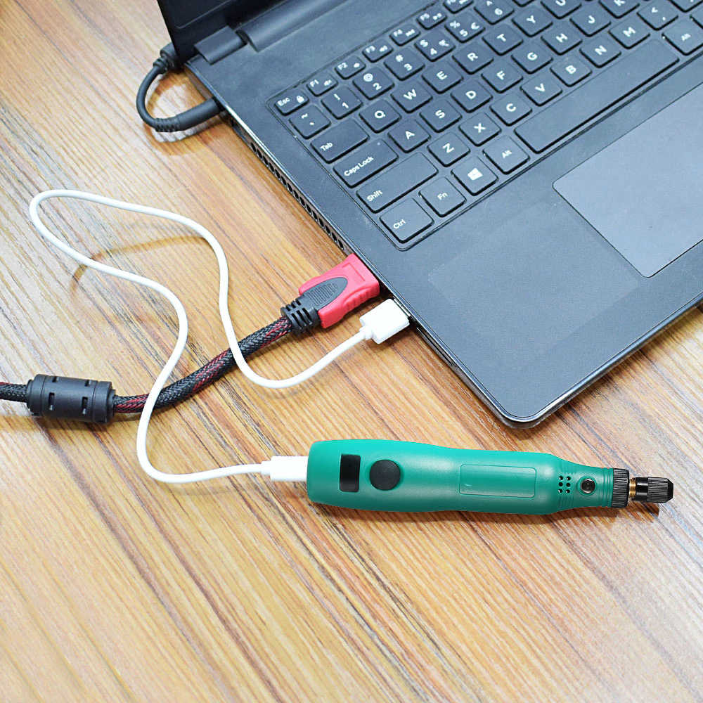 HR-102 USB 5 V DC Mini Grinder Set Power Tools Variabele Snelheid Rotary Gereedschap Sets Carving Pen voor Frezen Polijsten