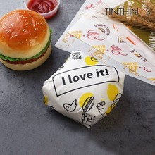 700 pcs Oil-proof wax paper for food wrapper paper Bread Sandwich Burger Fries Wrapping Baking Tools fast food customized supply 100 pcs 24 5x35cm disposable paper tray mats pad wax paper for food wrapping for restaurant bread customized supplier