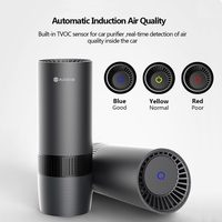 AUGIENB Mini Car Home Air Purifier HEPA Fresh Air Negative Ion Purifier Oxygen Removes Smoke Odors Dust Night Light Air Cleaner