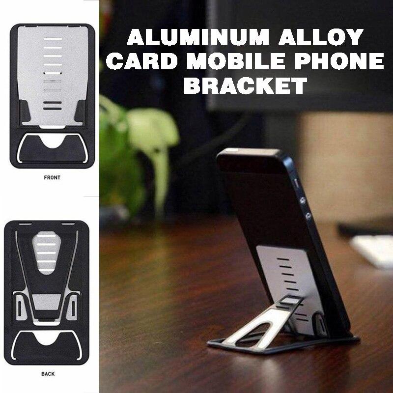 Mayitr Universal De Aleación De Aluminio De Escritorio Teléfono Móvil Soporte De Tarjeta Plegable Para Pc Tableta Para Teléfono Inteligente Soporte De Escritorio