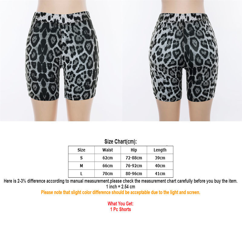 Ladies Women Army Leopard Skull Printed Cycling Hot Jersey Stretchy Pant Shorts