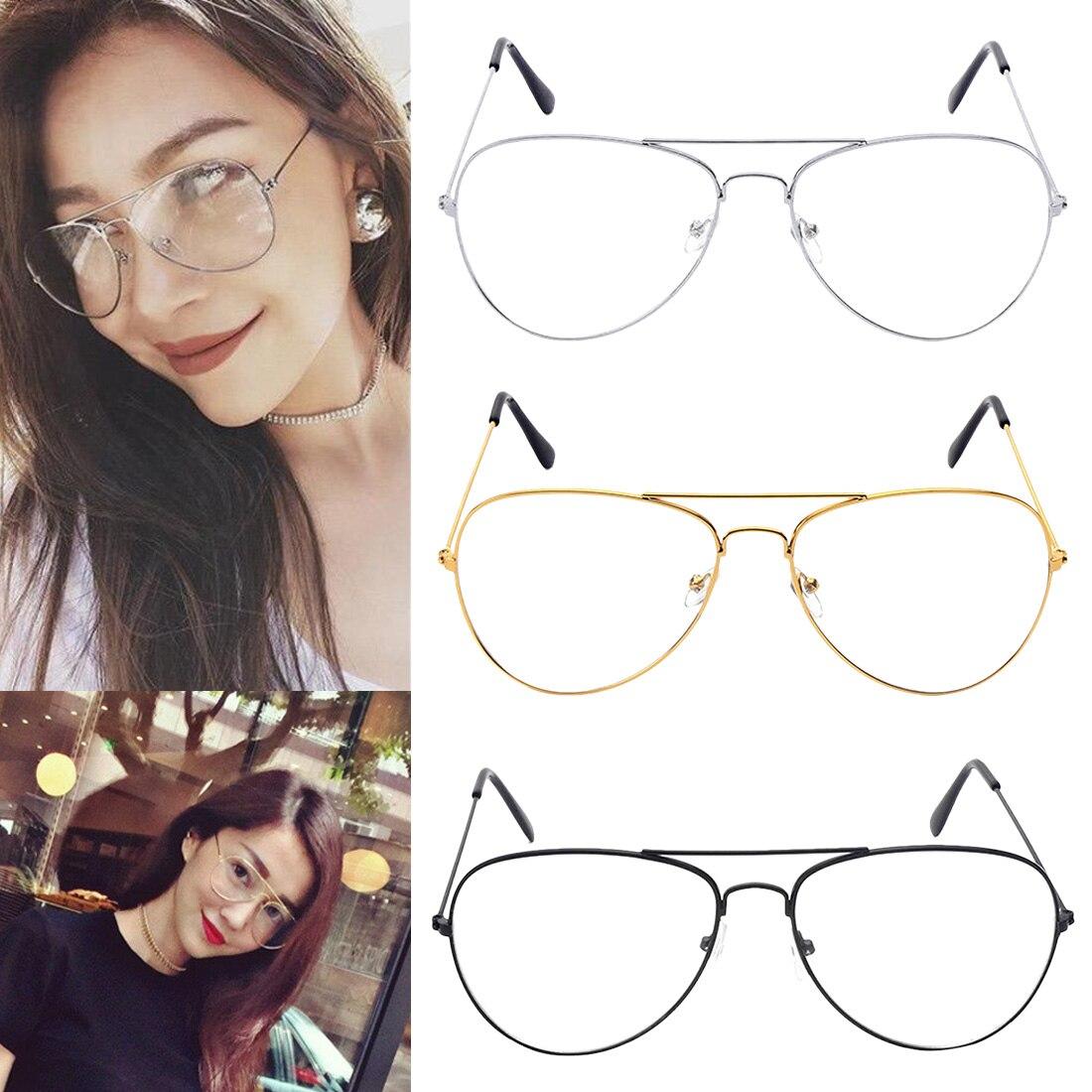 1 Pcs Große Mode Retro Metall Klare Linse Gläser Designer Tear Drop Rahmen Brillen De Oculos Feminino Lunette De Vue