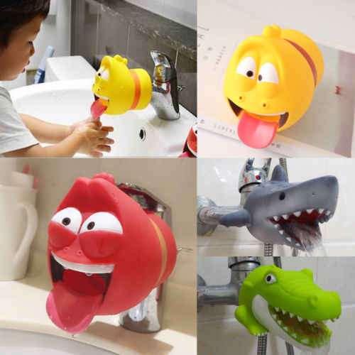 Faucet Extender For Helps Children Toddler Kid Hand Washing Sink Hot Creative Animal Shape Faucet Stretcher Convenience For Kids