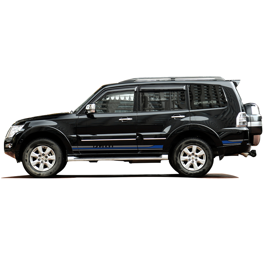 customize for mitsubishi pajero sport accessories modified stickers 2pc car side door stripe styling vinyl graphic stripe decals