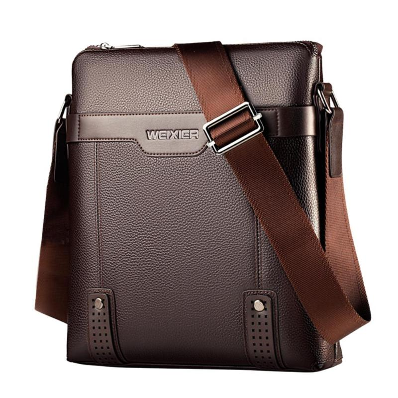 Solid Color Shoulder Bags for Male Fashion New Business Man Bag PU Leather Men Crossbody Messenger Bags Daily Handbag sac a main