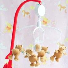 Купить с кэшбэком 35 Song Rotary Mobile Crib Bed Clockwork Movement Music Box Newborn Bell Crib Educational Baby Toys YJS Dropship