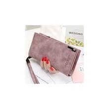 Ladies Matte Handbags Womens Long Wallet Japanese And Korean Zipper Buckle Simple Handbag Student