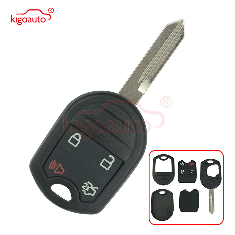 Kigoauto 4B FO38 blade Remote key shell 164-R8073 for <font><b>Ford</b></font> Edge Escape <font><b>Fusion</b></font> Mustang Expedition XLT <font><b>2007</b></font> 2008 2009 2010 2011 image