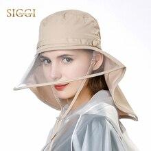 58cab4125ef FANCET Waterproof Rain Hats For Women Elastic Chin Cord Transparent Visible  Brim Rain Protection Bicycle Caps
