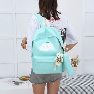 Image 2 - Nouvelle mode en Nylon sac à dos mignon nuage impression cartables école pour adolescents décontracté enfants sac à dos sacs de voyage