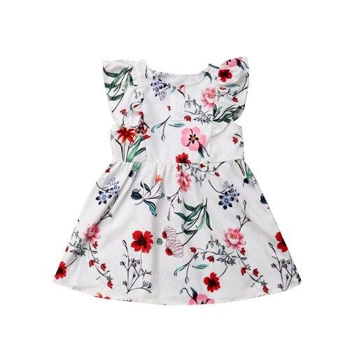 2019 été famille robe mère et fille correspondant fille tenues robes maman et fille correspondant vêtements coton 1