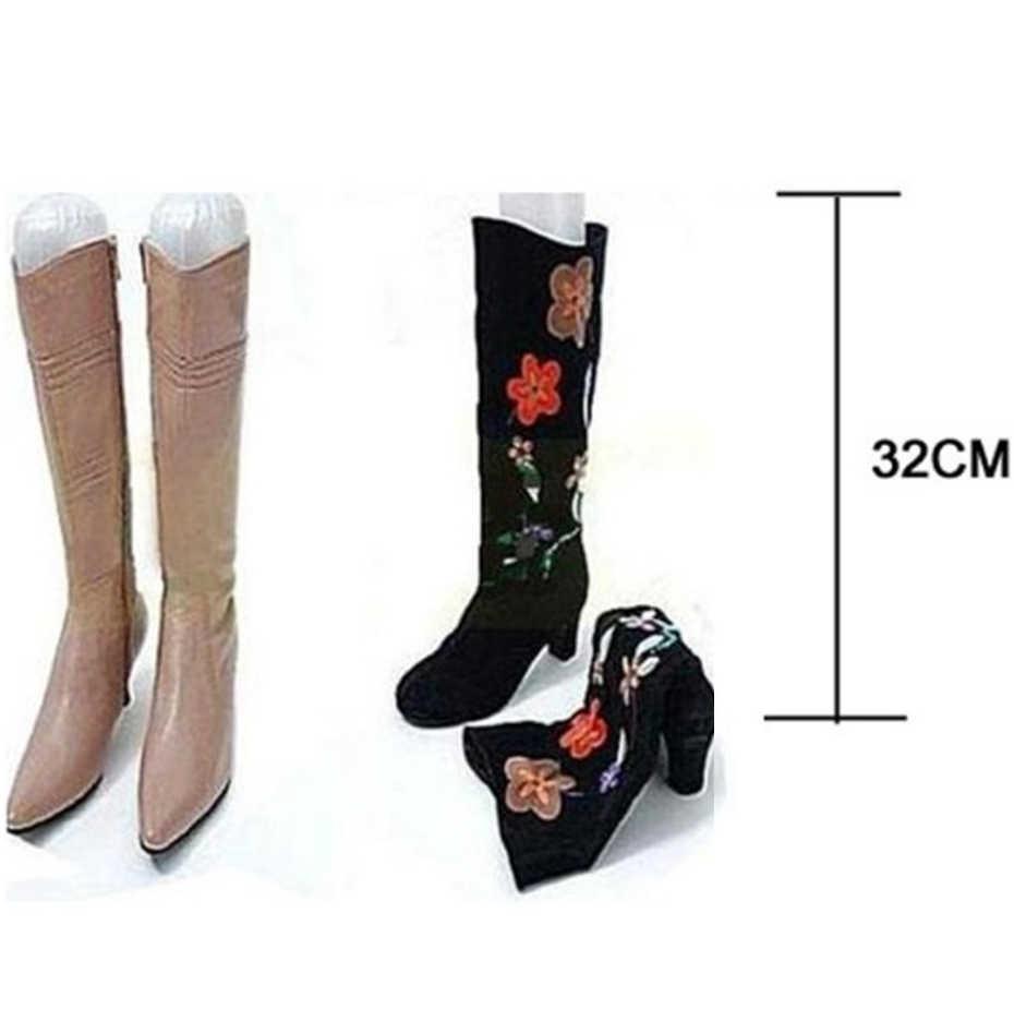 1 para PVC Kunststoff Aufblasbare Lange Boot Schuh Ständer Halter Keil Unterstützung Shaper Hohe Rohr Gummi Schuhe Unterstützung Shaper Heißer neue