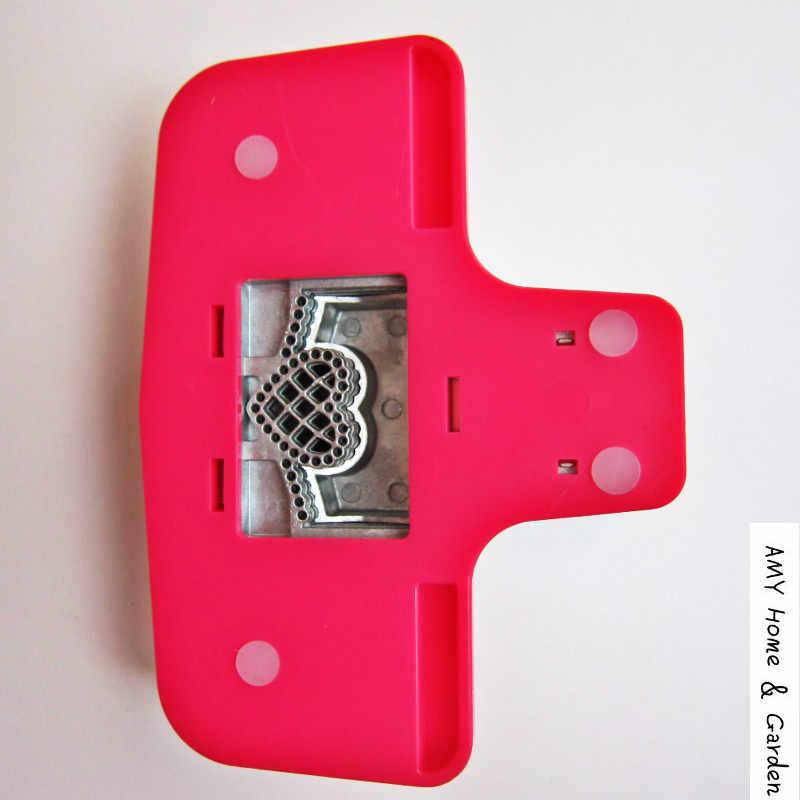 Grote Fancy Grens Embossing Perforator Scrapbooking Machine Handgemaakte Rand Apparaat Papier Cutter Furador Eva DIY Hart Puncher