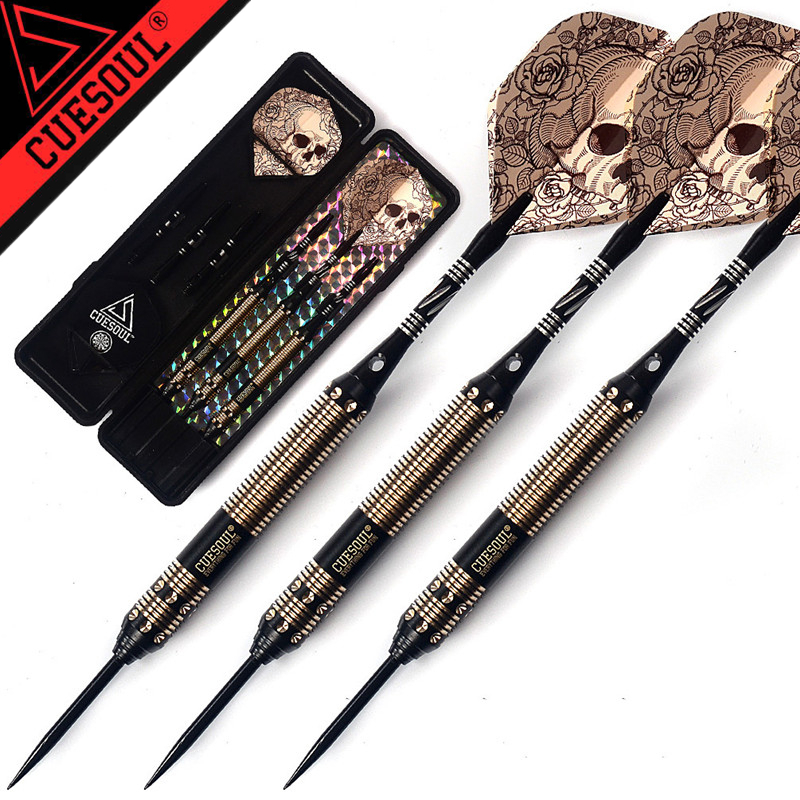 Entertainment Purposeful New Cuesoul 23g 25g 27g Professional Steel Tip Darts Black Dart Body With Dart Flights Pure Whiteness