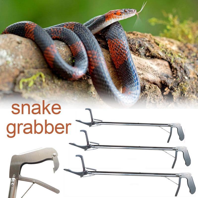 Brand New Reinforced All-Stainless Steel Catcher Grabber Tong Stick Handing Tool Snake Pliers Mud Tongs Snake Resistant Tool Щипцы